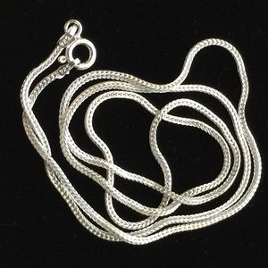 18 Inch Sterling Silver 1.1 x 1.0 mm Snake chain